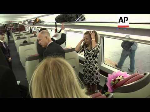 Governor Brown takes high-speed train to Shanghai