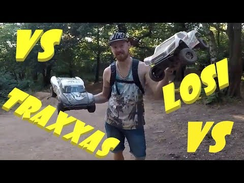 Traxxas slash 4x4 vs losi tenacity 4x4 dirt jumping