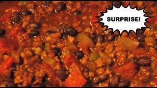 "Vegetarian ""chili Con Carne"" Surprise Recipe - Foodie City Mom Cooks!"