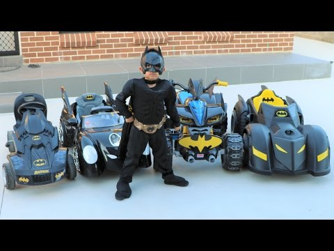 Batman's Batmobile Collection Test Driving Kids Electric Battery Powered Ride On Cars Ckn Toys