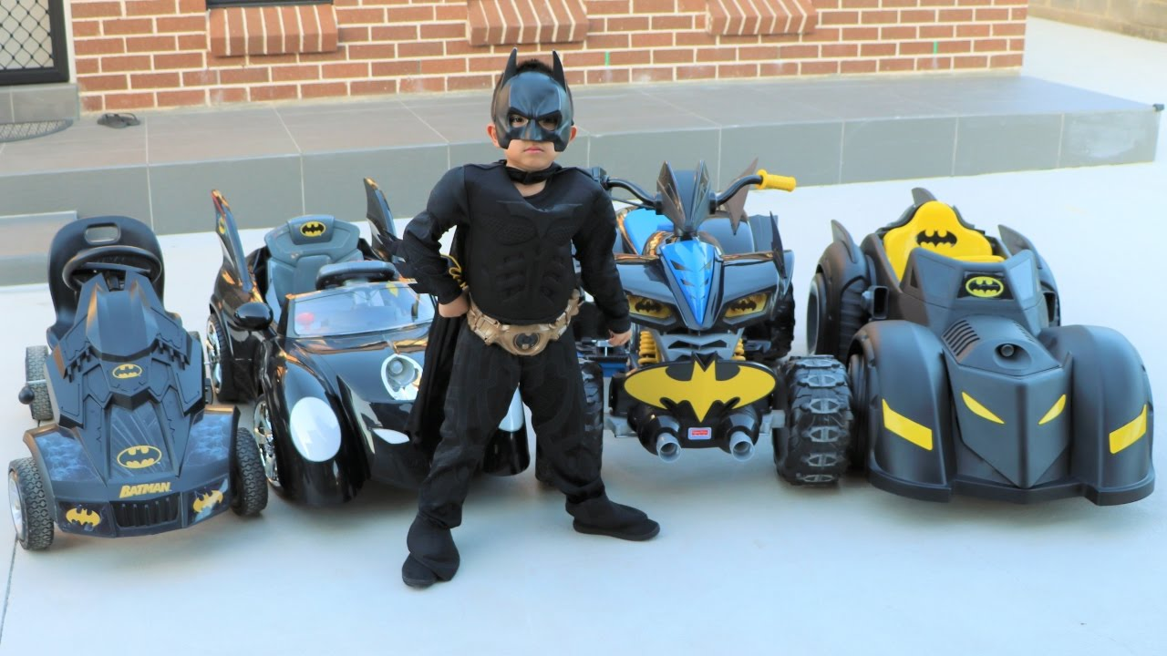 batmans batmobile collection test driving kids electric battery powered ride on cars ckn toys
