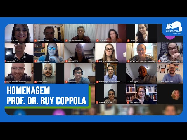 Homenagem Professor Dr. Ruy Coppola