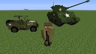 - Minecraft 1.7.10 - Flan's Mod - Armas modernas y armamento de la segunda guerra mundial