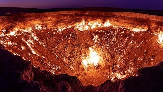 "The Real ""DOOR TO HELL"": GIANT Hole in Desert Has Been on Fire For Over 40 YEARS"