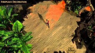 Path of Exile - Fireplace Hideout Decoration