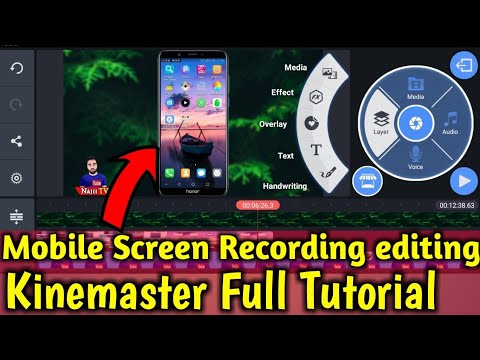 How to Edit Screen Recording Video and Mobile Fram in KineMaster Full Tutorial 2019