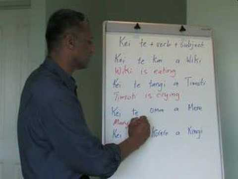 Maori Language Lessons - present verbal clauses_7