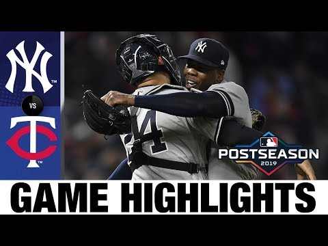 New York Yankees complete sweep of Twins to advance to ALCS!