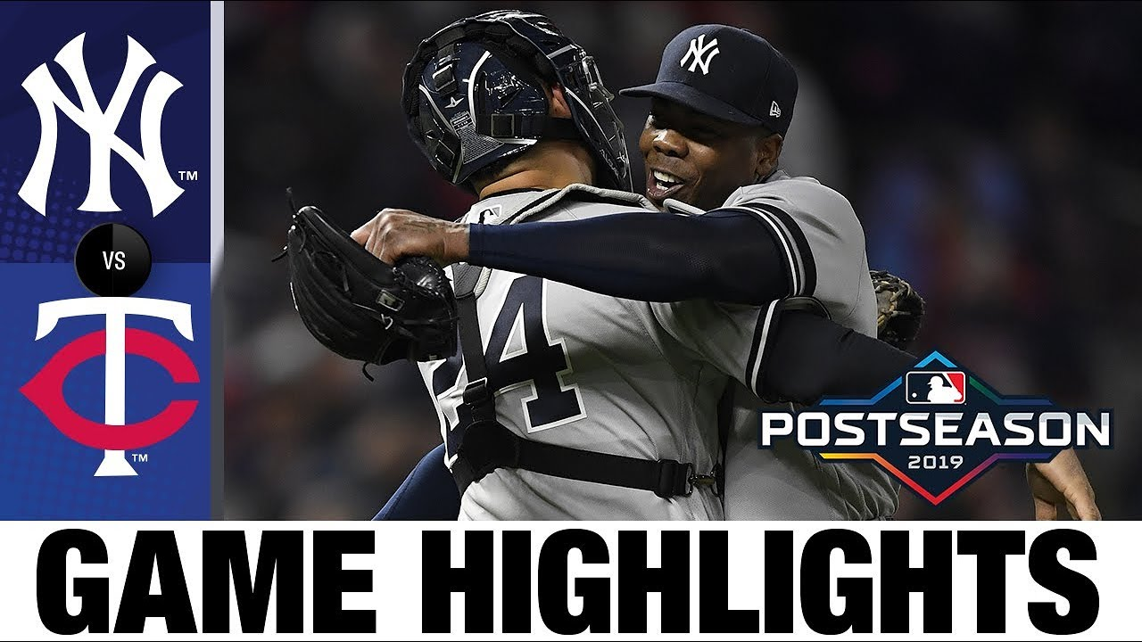 New York Yankees complete sweep of Twins to advance to ALCS! | Yankees-Twins Game Highlights image