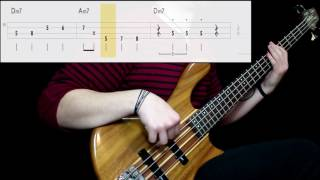 van morrison - moondance (bass only) (play along tabs in video)