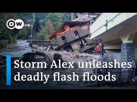 Storm Alex batters France and Italy with torrential rains | DW News