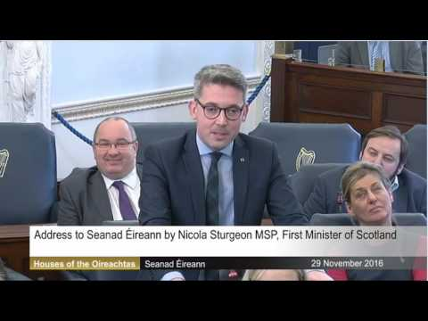 Senator Ó Donnghaile questions First Minister Nicola Sturgeon