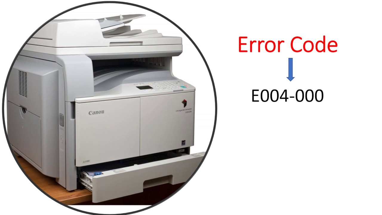 Canon ir 2202 2002 s2002N 2202N copier #error E004-000 How to remove