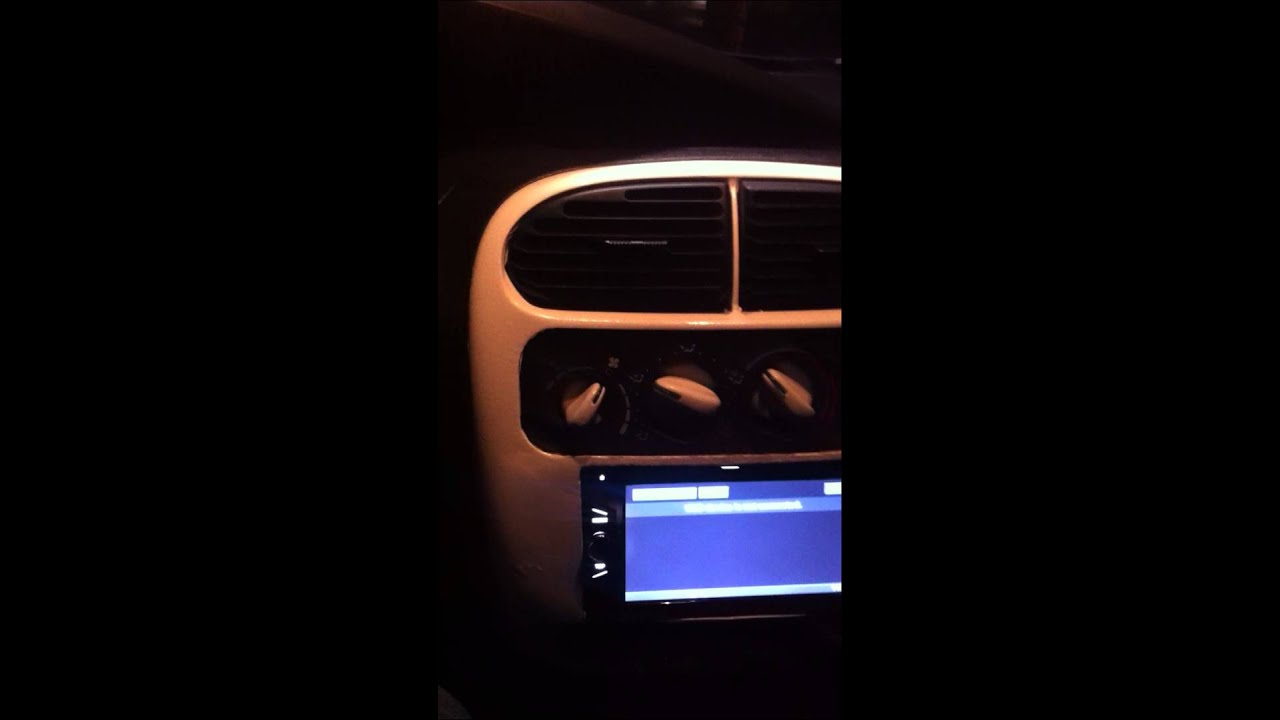 Neon SRT-4 Double din in dash(selling) - YouTube