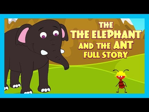 THE ELEPHANT AND THE ANT FULL STORY |  ENGLISH ANIMATED STORIES FOR KIDS | TRADITIONAL STORY