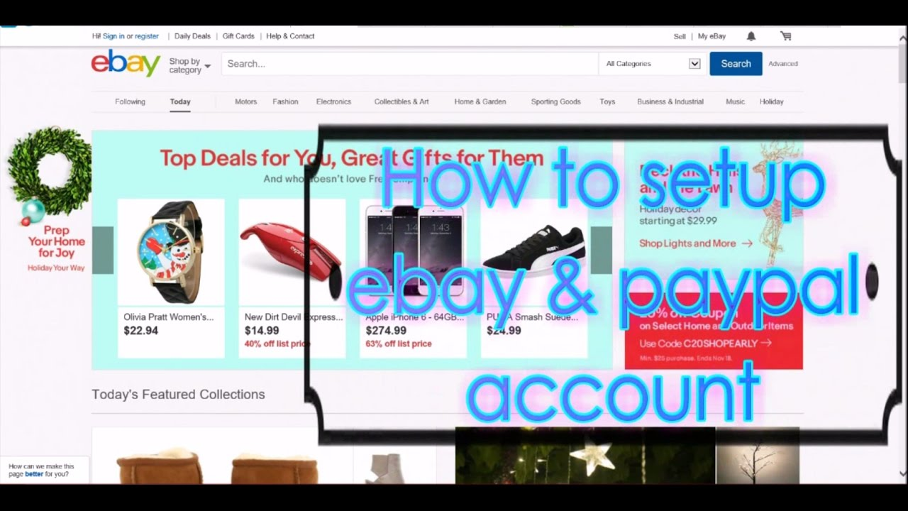 How to setup an ebay and paypal account and link them for shopping how to setup an ebay and paypal account and link them for shopping reheart Images