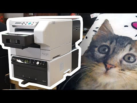 Printing Custom T-shirts with the Roland Versastudio BT-12 DTG