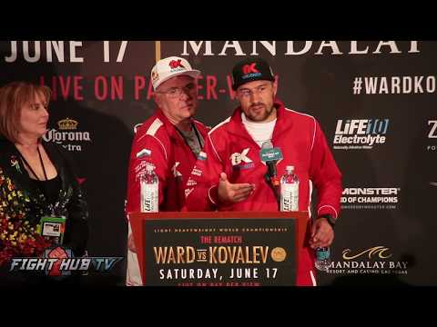 Sergey Kovalev describes Andre Ward as the best dirty fighter he's ever faced
