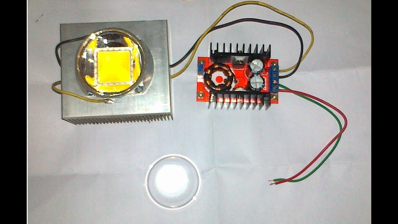 100 W Inverter Circuit Diagram 100w Led Installation Youtube