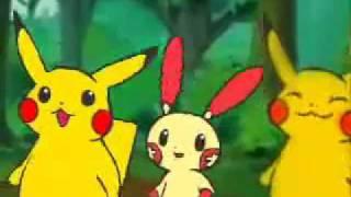 Repeat youtube video Pikachu,Plusle and Minun - Hare Hare Yukai