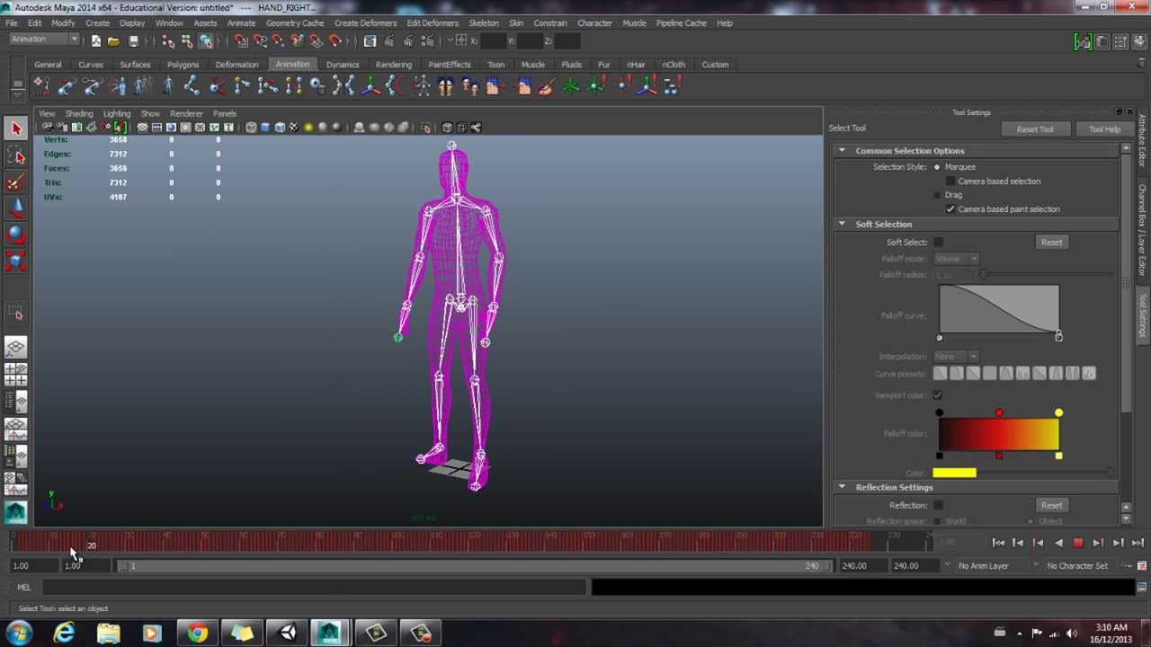 Cinema Mocap - Tutorial #2 - Refining your Animation in Maya