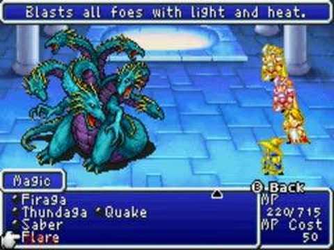 Final Fantasy 1 Dos Boss Fight9 Tiamat Youtube