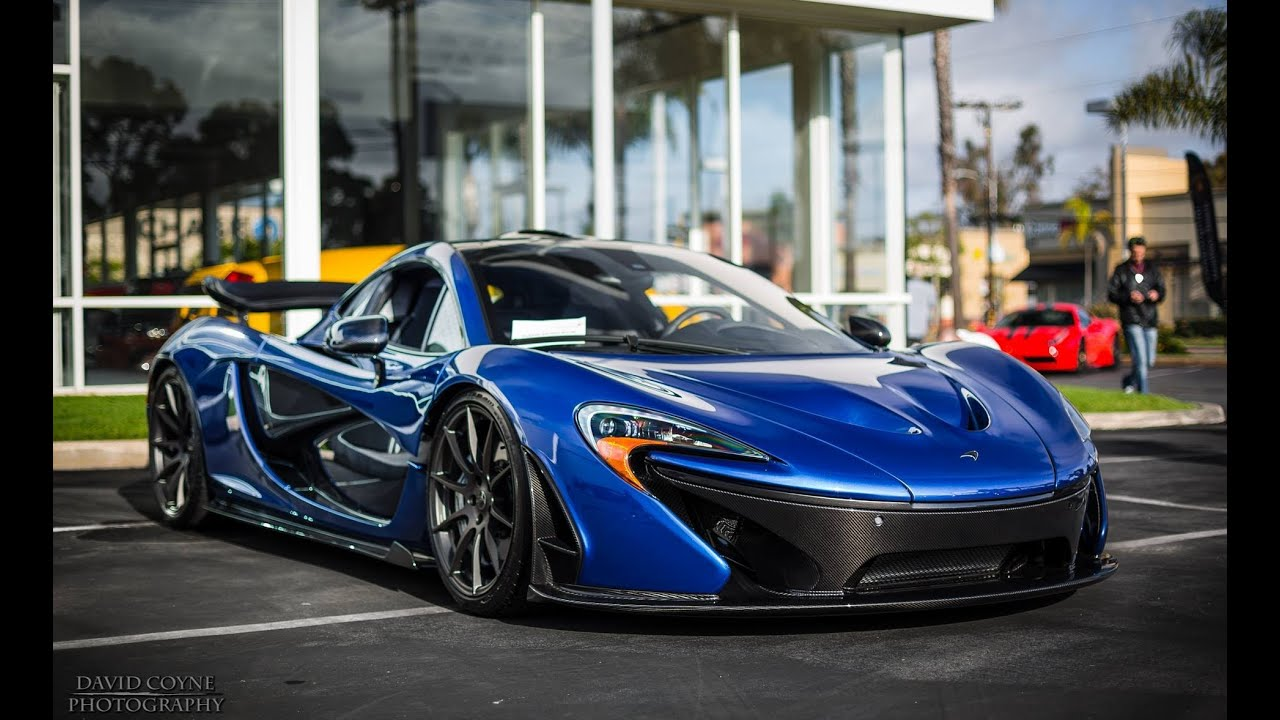 New Mclaren P1 In Blue 2nd P1 In The Us Revving