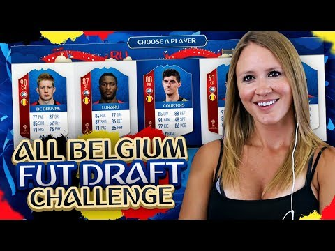 ALL WORLD CUP BELGIUM SQUAD FUT DRAFT CHALLENGE! FIFA 18