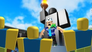 ROBLOX: TRY TO PROTECT THE GIANT STATUE OF RUBBER DOLLS! (Defend the Statue)-Play Old man