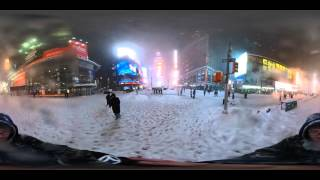 TImes Square during the blizzard