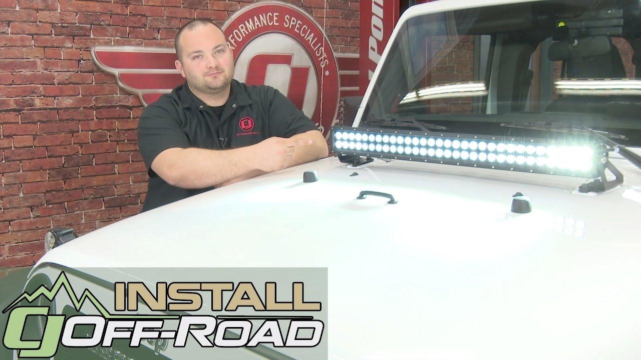 Jeep Wrangler JK KC HiLiTES LED Light Bar Kit 30\