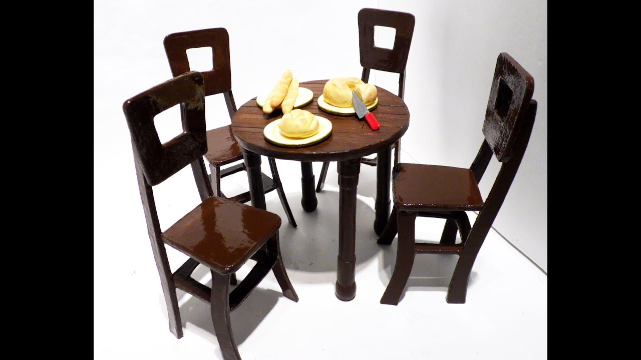 How To Make Dollhouse Table Chairs