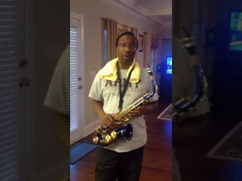 Beginner Alto  Saxophone player Mendini by Cecilio MAS-BL+92D+PB Blue Lacquer E Flat Alto Saxophone