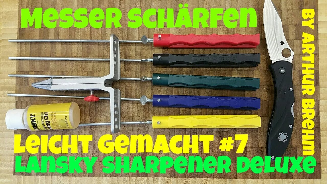 messer sch rfen leicht gemacht 7 lansky deluxe sharpener youtube. Black Bedroom Furniture Sets. Home Design Ideas