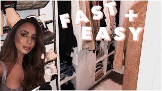 DIY LUXURY CLOSET MAKEOVER + TOUR | VLOG