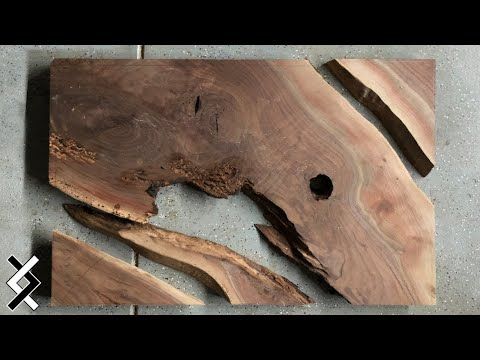 DIY Epoxy Table - How To Resin and Wood Table - How To Woodworking