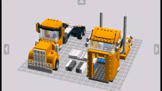 Lego Custom Kenworth Truck build guide
