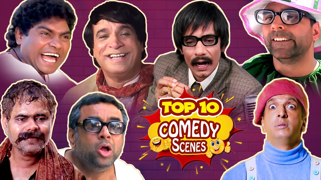 Top 10 Bollywood Comedy Scenes - Akshay Kumar - Paresh Rawal - Johnny Lever - Rajpal Yadav