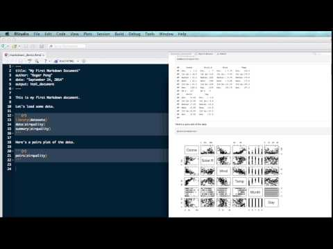 R Markdown With RStudio