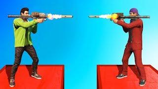 MILE HIGH RPG's vs. RPG's BATTLE! (GTA 5 Funny Moments)