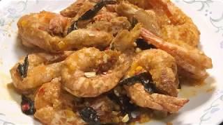 CNY recipes - Salted egg prawns 金沙虾