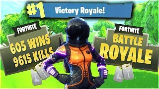 Fortnite Battle Royale Grinding Wins! New Dark Vanguard Skin and Rocket Rides 605 Total Wins PS4 PRO
