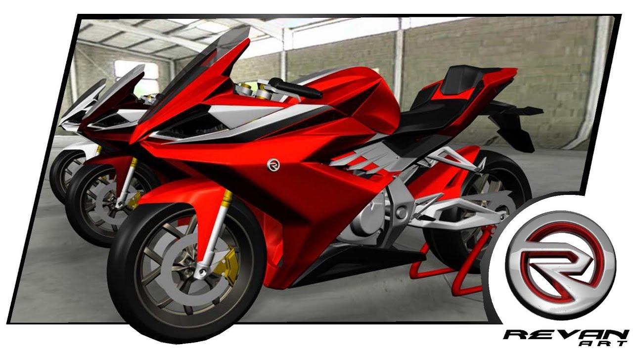Motorsport 3d Concept 250 Cc Saingan Cbr 250 Rr Dan Ninja 250 Youtube