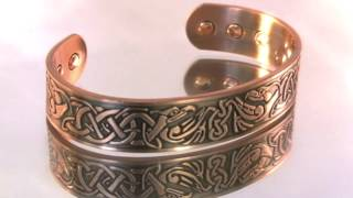 """Zeus"" Unisex Copper Magnetic Therapy Cuff Bracelet"