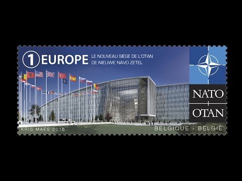 Belgian Post issues a commemorative stamp for NATO's new Headquarters
