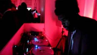 Questlove spinning Menahan Street Band at Belvedere