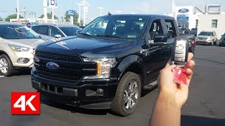 2018 FORD F150 LARIAT 4X4 SUPERCREW - 4K IN DEPTH WALKAROUND STARTUP EXTERIOR INTERIOR BED & TECH