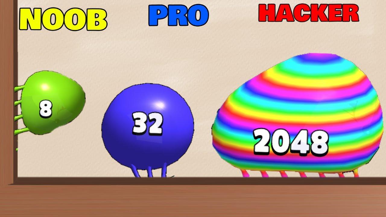 NOOB vs PRO vs HACKER in Blob Merge 3D