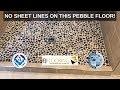 Pebble Tile Shower Floor - Lifetime Warranty - Brushed Nickel Finish