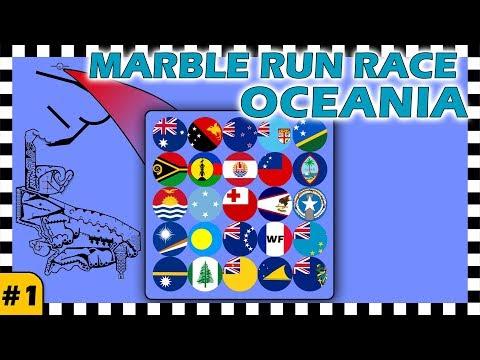 Country Balls Marble Run Race Oceania - Race 1 Of 6 - Algodoo